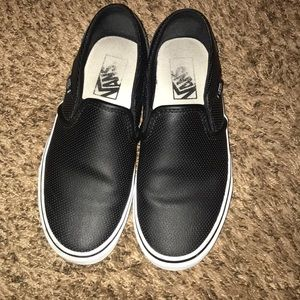 Leather vans
